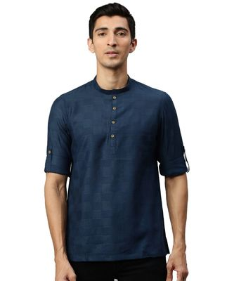 Blue cotton Short Kurta