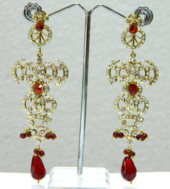 Hot indian Fashion elegant Crystal Rhineston Earrings