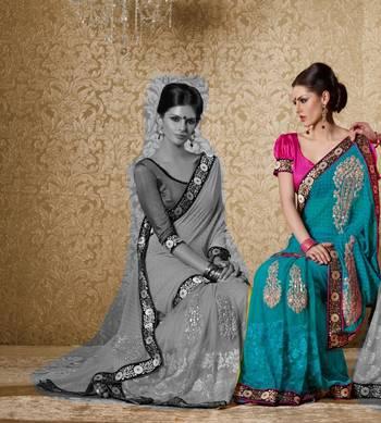 Elegant Designer Sari Gun8410b