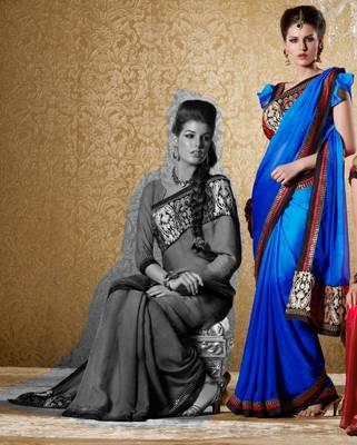 Elegant Designer Sari Gun8411b