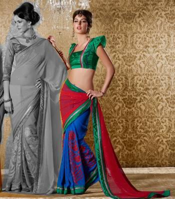Elegant Designer Sari Gun8412c