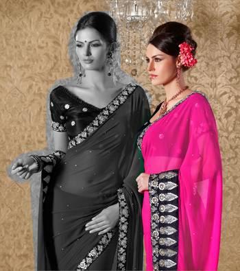 Elegant Designer Sari Gun8413b