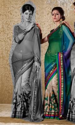 Elegant Designer Sari Gun8416b