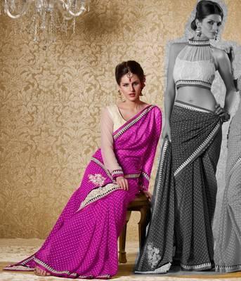 Elegant Designer Sari Gun8421a