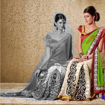 Elegant Designer Sari Gun8422b