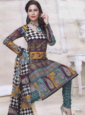 Cotton Dress Material Elegant Designer Unstitched Salwar Suit D.No 12035