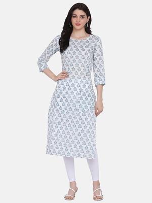 White Colour Straight Kurta