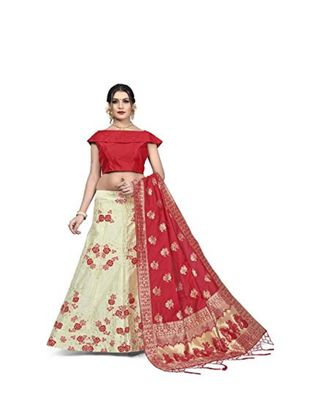 RED JECARD LENGHA ANRAKALI WITH BLOUSE