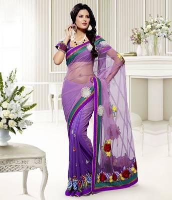 Elegant Designer Sari Saffron 213