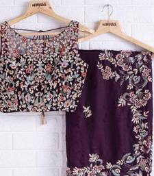 Wine Designer Organza saree with blouses