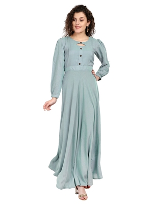 Women's Grey Rayon kurti