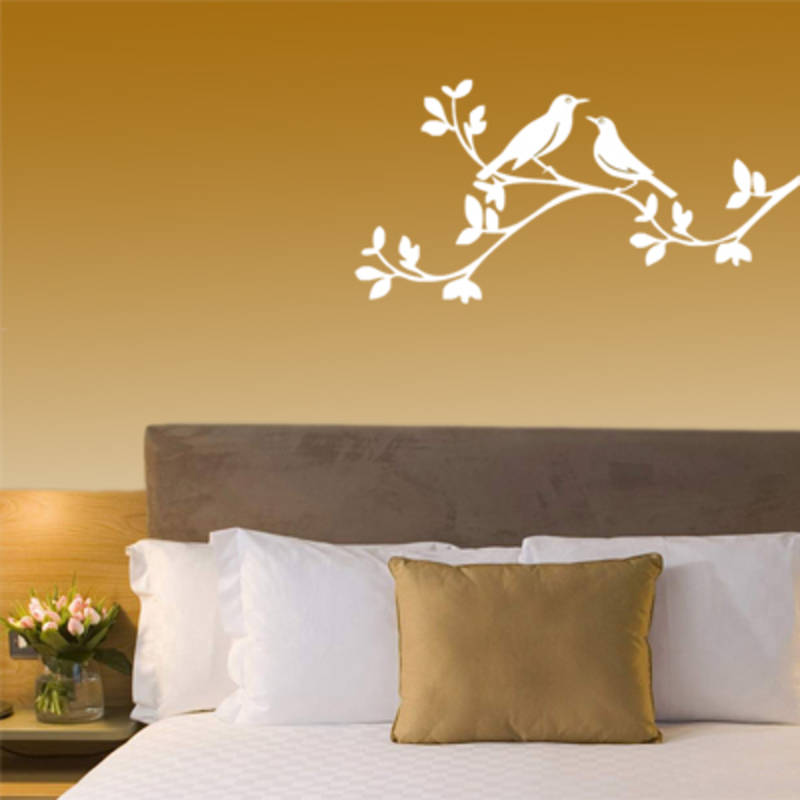 two birds on a brach - wall art - silhouette design.in - 3260