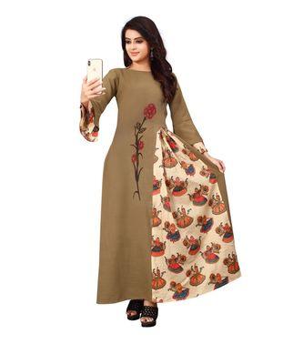 Women's Mahendi Green Rayon kurti