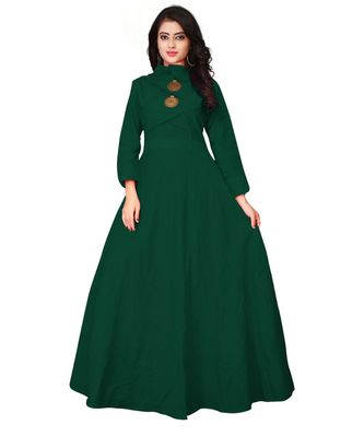 Women's Green Rayon kurti