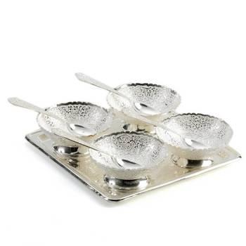 Exquisite Silver Plated Dessert Set