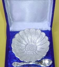 Buy German Silver Flower shaped bowl other-home-accessory online
