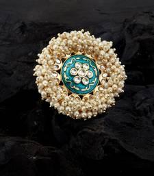 Blue pearl rings