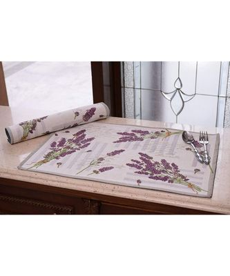 Bloom Table Mats for Dining (Multicolour) - Set of 2