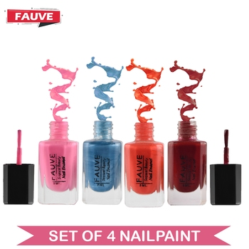 Fauve FN15 Nail Paint Copper Matte Violet Red Matte Nude