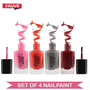 Fauve FN15 Nail Paint Violet Red Matte Nude Pink Matte Ice