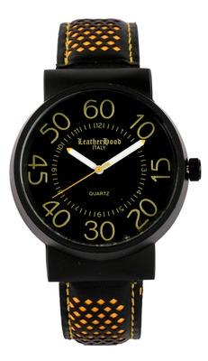 LeatherHood Bold & Elegant Large Dial Analog Bronze Men's Watch