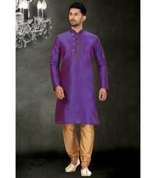 purple printed kurta pajama
