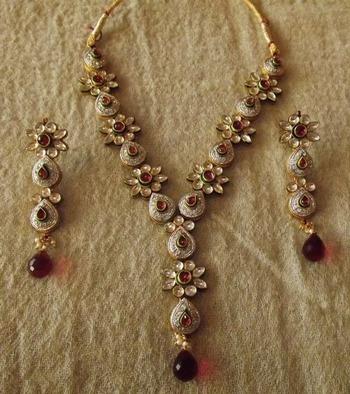 Kundan and Diamond Necklace Set