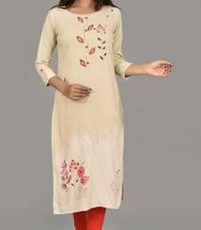 Katch karigari Grey  Embroidered Straight kurta cotton