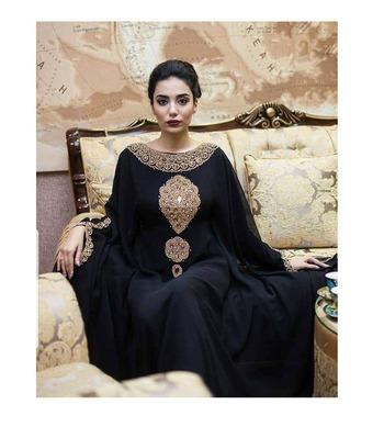 Sale !! Dubai Beaded Kaftan Arabian Plus Size Abaya Party Fancy Dresses African Clothing Butterfly stylish