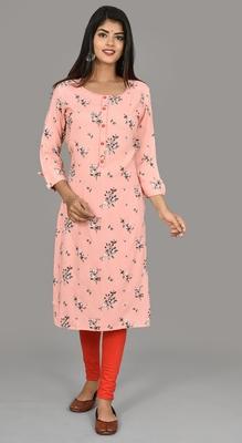 Pink Color phull patti design saganeri embroidery kurta