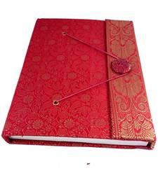 Buy Craftbazar Handmade Brocade saree Diary wedding-gift online