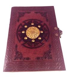 Buy Craftbazar handmade leather diary  Double Lock office-opening-gift online