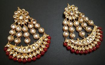 Designer kundan Earrings with Pasha style