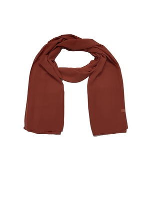 Premium Chiffon Hijab  Brick Brown