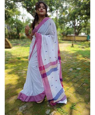 Handloom pure Khadi blend saree