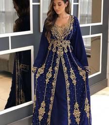 Sale Moroccan Kaftan Dubai Abaya Maxi Hand Zari Islamic Floor Length Dress