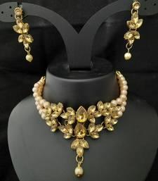 Golden Pearl Kundan Choker Mala Jewellery Set