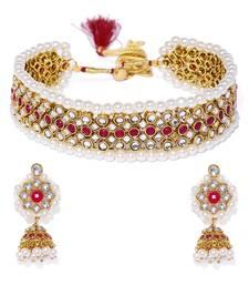 Purple pearl necklace-sets