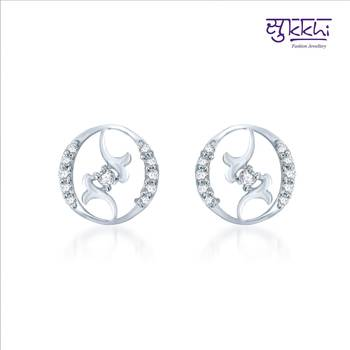 Sukkhi Splendid Rhodium Plated CZ Earrings(136E310)