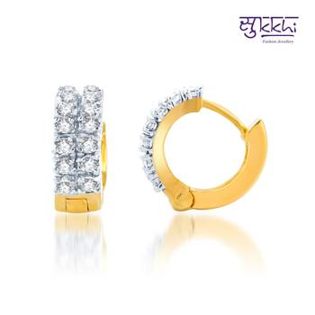 Sukkhi Fancy Gold and Rhodium Plated CZ Earrings(145E800)