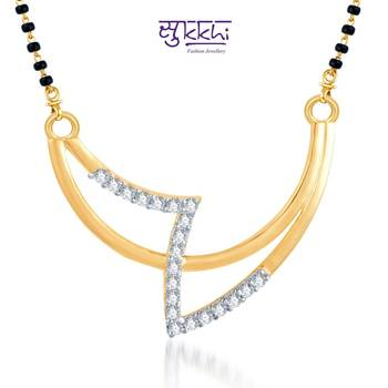 Sukkhi Creative Fashion CZ Gold and Rhodium Plated mangalsutra(117M400)