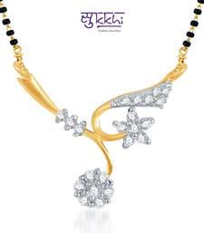 Buy Sukkhi Elegant Wedding CZ Gold and Rhodium Plated mangalsutra(118M400) mangalsutra online