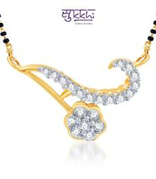 Buy Sukkhi Delightly Crafted CZ Gold and Rhodium Plated mangalsutra(120M400) mangalsutra online