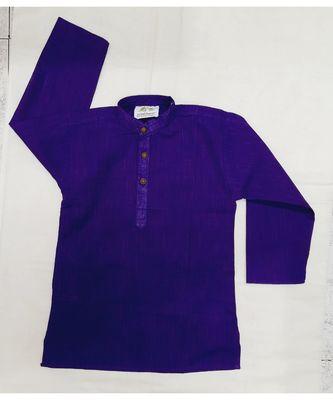Purple South Cotton Solid Kurta