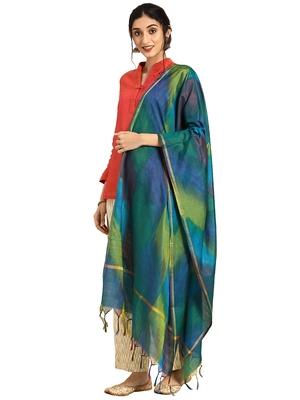 multicolor Silk Blend Printed Dupatta