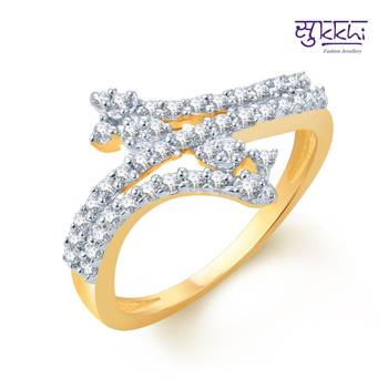 Sukkhi Beguiling Gold and Rhodium Plated CZ rings(143R680)