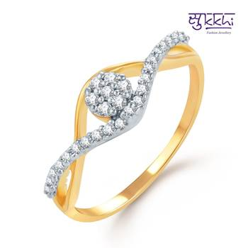 Sukkhi Youthful Gold and Rhodium Plated CZ rings(146R380)