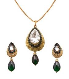 Antick Green Designer Pendant  Set