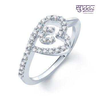 Sukkhi Marvelous Rhodium Plated CZ rings(150R450)