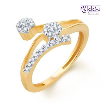 Sukkhi Stunning Gold and Rhodium Plated CZ rings(151R450)